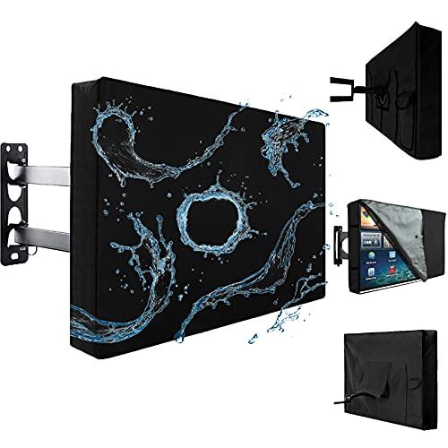 Cubierta De TV Al Aire Libre 600d Tela De Poliéster Resistente A La Intemperie Pantalla Plana Protector De Pantalla De TV para 22 '' A 70 '' LCD Led