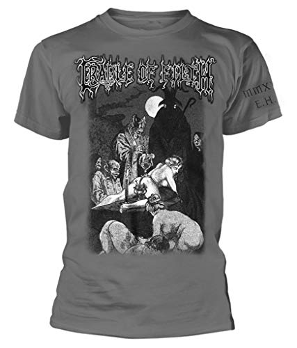 Cradle of Filth 'Black Mass' (Grey) T-Shirt (Large)