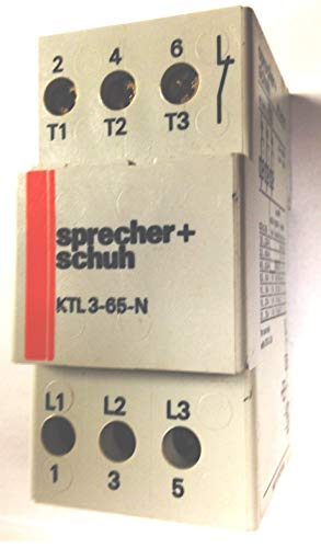 SPRECHER & SCHUH KTL3-65-N 3 Pole, Discontinued by Manufacturer, CONTACTOR, 600 VAC, 25 AMP