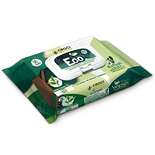 Croci Salviette Umidificate per Cane&Gatto Eco tè Verde E Clorexidina 30Pz - 470 g