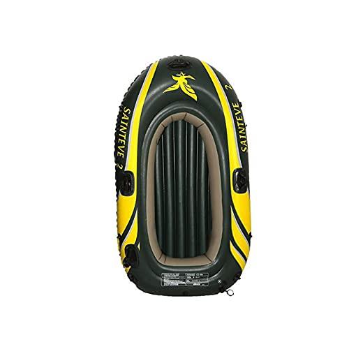 LOVOICE Bote inflable para 2/3 personas, barco de pesca, plegable, juego de botas, portátiles y gruesas, flotantes