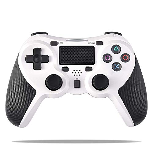 Tanouve Controller Wireless Playstation4 Dualshock 4, Gamepad Controller Wireless Gamepad con Joypad con Pulsanti Dual Vibration/Trigger Jack da 3,5 Mm per Playstation 4 e Windows