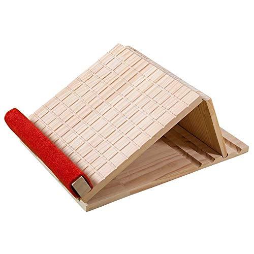 Voetsteunen veterplaat, barkruk, schuin pedaal, veters, massief hout, corrigeeren, strekken, dun, vouwen, massage, thuis draagbare schuine plank. Six gears Squares