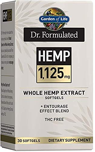 Garden of Life Dr. Formulated Hemp One a Day Softgels, 1125 mg
