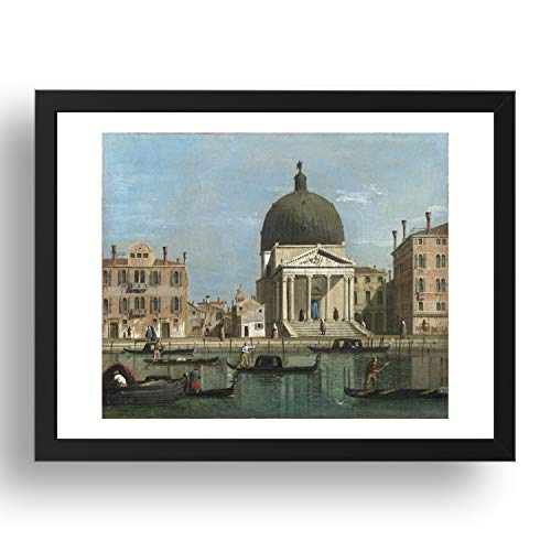 Seguidor de Canaletto: Venecia: S. Simeone Piccolo, arte vintage, reproducción A3 en 17x13