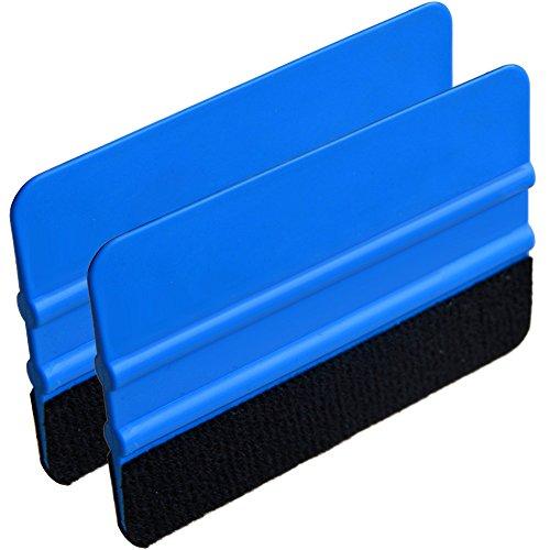 Calistouk 2 Stück Rakel mit Filzkante Folienrakel für Auto, Möbelfolie, Fensterfolie, Tönungsfolie, Wandtatto,Plotter Klebefolie