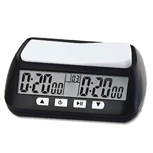 Kacniohen Ajedrez Ajedrez Reloj Temporizador Digital Reloj Temporizador de Cuenta Arriba/Abajo Bono retardo Inglés Versión portátil de Juego de ajedrez Mejor Regalo
