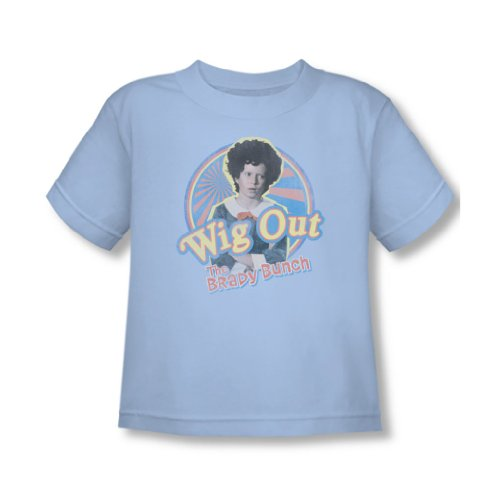 Brady Bunch - - Perruque enfant le T-shirt bleu clair, 4T, Light Blue