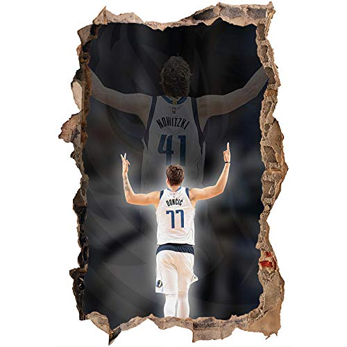 Nensuo 3D York Knicks NBA Basketball Home Decor Art Wall Vinyl PVC Sticker 60 * 90CM-A_80*120CM