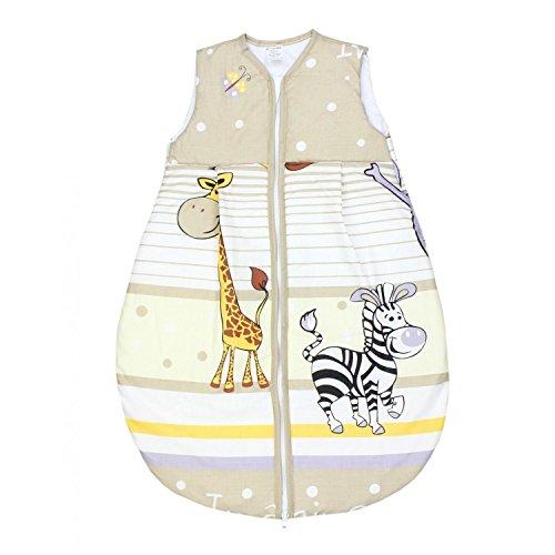 TupTam Baby Unisex Schlafsack Ärmellos Wattiert, Farbe: Imagine Beige, Größe: 92-98