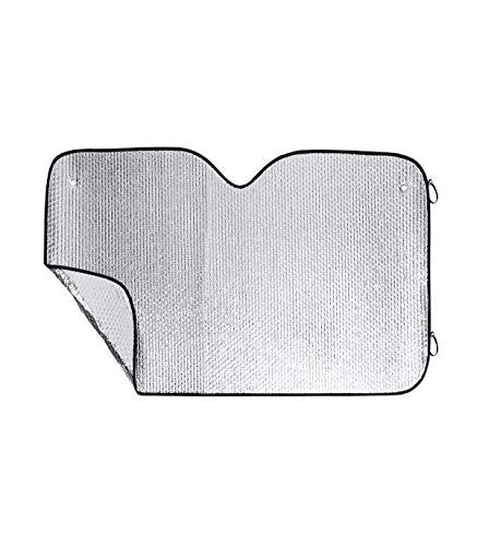 BigBuy Car S1411794 zonnescherm, unisex, volwassenen, zwart/grijs, eenheidsmaat