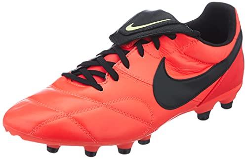 Nike The Premier II FG, Scarpe da Calcio Uomo, BRT Crimson/Black-lt Lemon Twist, 45 EU