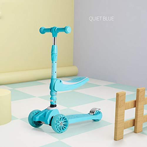 El Scooter para niños Puede Sentarse de 1a3 años de Edad, Cochecito de bebé de 3 a 6 años de Edad,Deslizamiento de Pedal, manija Ajustable, Scooter de Bicicleta para niños livianos