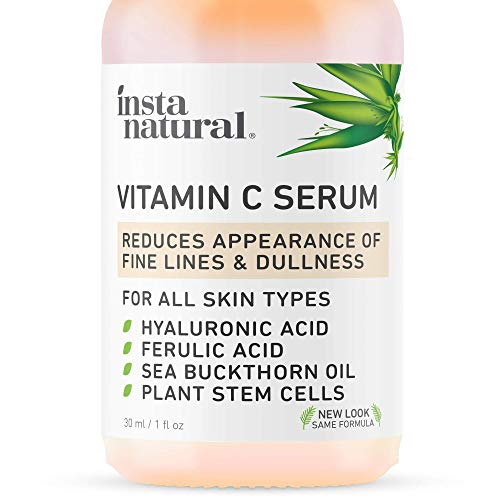 InstaNatural Vitamin C Serum with Hyaluronic Acid & Vit E - Natural & Organic Anti Wrinkle Reducer...