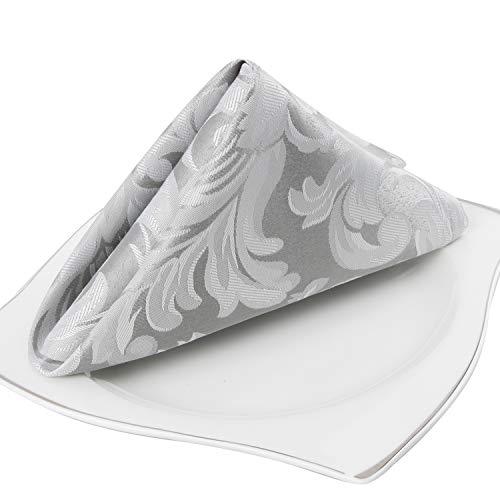 EHouseHome Damask Jacquard Cloth Napkins Waterproof...