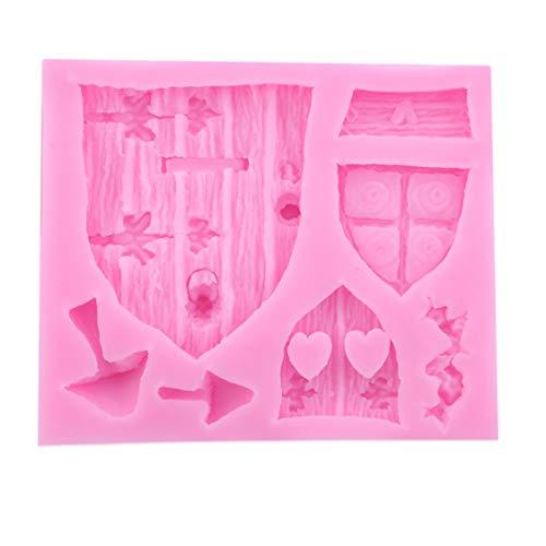 Idiytip Vintage Fairytale Château Porte Fenêtre Silicone Moule Chocolat Fondant Sugarcraft Gâteau Décoration Moule