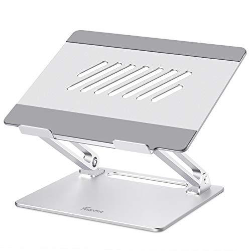 """Fatorm Laptop Ständer, Höhenverstellbar Notebook Ständer mit Wärmeentlüftung, Ergonomischer Aluminium-Laptophalter, Unterstützt alle 10-15,6\"""" Laptops, Silber"""