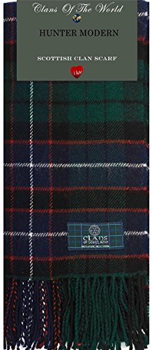 I Luv Ltd Hunter Modern Tartan Clan Scarf 100% Soft Lambswool