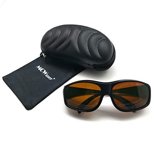 MCWlaser Gafas Protectoras de Seguridad con láser Gafas para 355 NM 532 NM 808 NM 980 NM 1064 NM (190-540 y 800-1700 NM) Tipo de absorción Gafas para miopía