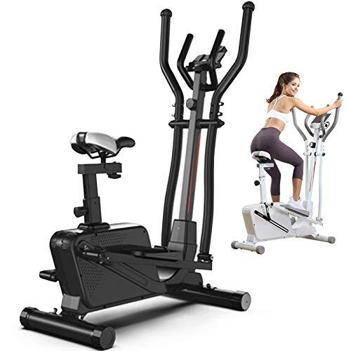 DEALRITE 3 en 1 máquina elíptica bicicleta de ejercicio, máquina elíptica magnética para uso en el hogar para hombres, mujeres y personas mayores, blanco, negro, blanco