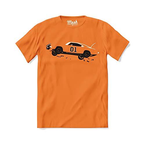 T-Shirt Hazzard Generale Lee - Serie TV Anni 80-100% Cotone Organico, 9-11 Anni, Arancione