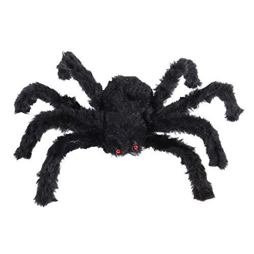 Generic 12 Piezas de 50 Cm de Halloween Araña Grande Negra de Felpa de Miedo Accesorios de Araña Peluda Gigante Escalofriante para La Mesa de La Casa Embrujada para La Decoración Interior