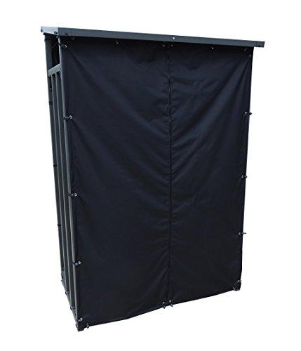 GRASEKAMP Qualität seit 1972 Wetterschutz Set Front und Rückwand zu Kaminholzunterstand 130x70x203cm PVC Schwarz