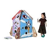ROCK1ON DIY Doodle Wellpappe Spielhaus Kombination Raketenschiff Rollenspiel Haus für Kinder...