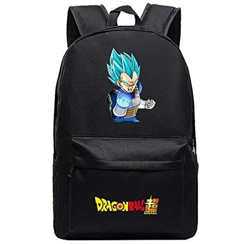 Mylxdn Dragon Ball Anime Mochila Escolar con Puerto De Carga Daypack Ambulante Bolso De Escuela De Hombro Bolsa para Portátil para Niños Y Niñas