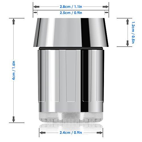 Bunte LED-Wasser-Hahn, Dland RC-F03 bunten LED-Licht-Wasser-Strom-Hahn-Hahn mit 3 Farbmodelle für Küche und bathroms -. Völlig 7 Farben (2ST-Hähne und 2 Adapter pro Beutel) - 4