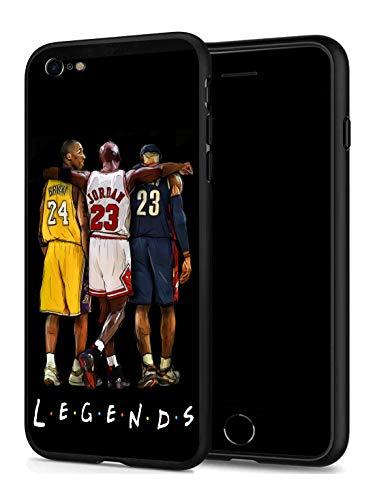 GONA iPhone 7 iPhone 8 Hülle für Basketball-Fans, weiche Silikon-Schutzhülle, dünn, kompatibel mit iPhone 7/8 (nur Legends-Kobe-Jordan-Lebron)