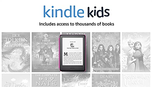 Kindle Kids, a Kindle designed for kids, with parental controls - Pink Cover