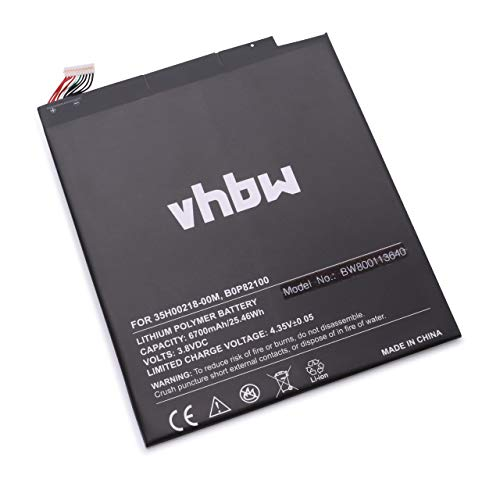 vhbw Li-Polymer Akku 6700mAh (3.8V) für Tablet Netbook Pad Google Nexus 9, 9 TD-LTE, 9 WiFi, 0P82100 wie B0P82100, 35H00218-00M.