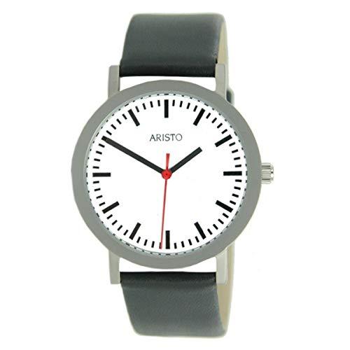 Aristo 3H03 - Armbanduhr Lederband schwarz