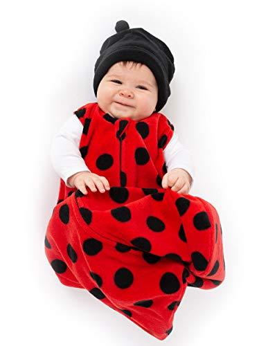 Cuddle Club Sacco Nanna in Pile per Bebè – Copertina Neonato indossabile – LadyBugWBXL