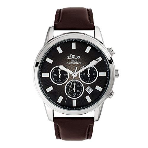 s.Oliver Herren-Armbanduhr Chronograph SO-3684-LC