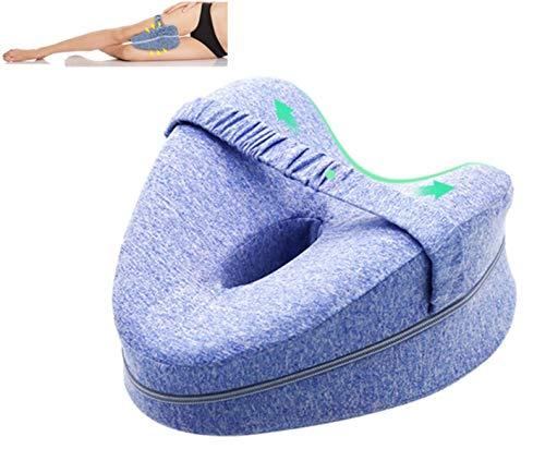 Orthopädisches Kniekissen Bein & Knie Foam Stützkissen - Beruhigende Schmerzlinderung für Ischias, Rücken, Hüfte, Knie, Gelenke & Schwangerschaft (Blau)