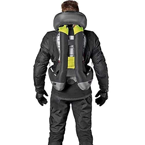 Airbag Moto, Costume D'équitation Gilet, Moto Tampon Gilet Réfléchissant, Combinaison Anti-Chute Gaz Comprimé, Vert Et Noir, pour L'équitation Sortie Adapté,Noir,XL