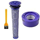 Nordun Kit de Filtro de Reemplazo Compatible Dyson V8 V7 Pre y HEPA Post Filtro de Motor Animal y Juego de Vacío sin Cable Absoluto, Reemplazar # DY-96566101, DY-96747801(Pack de 3)