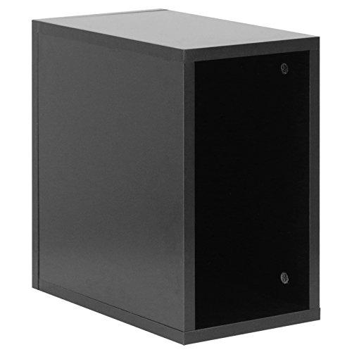 Hartleys Vinyl-Aufbewahrungskasten für die Schallplattensammlung, in Schwarz