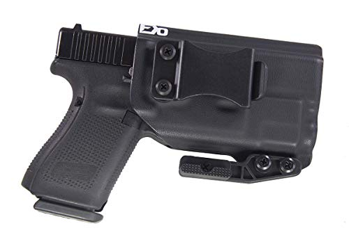 Fierce Defender IWB Kydex Holster Compatible with Glock 19 23 32 w/TLR7 The Paladin Series -Made in USA- GEN 5 Compatible (Black)