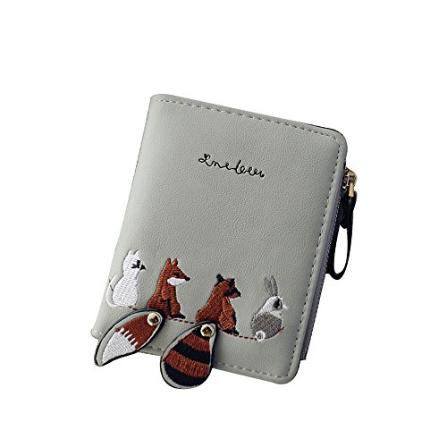 Fantastic Prices! Women's Animal Pattern Leather Bifold Zip Pocket Wallet Credit Card Holder Organiz...