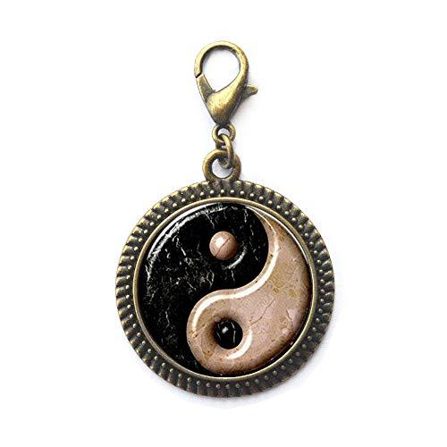 Yin Yang - Cierre de mosquetón, regalo perfecto, cierre de cremallera para él, símbolo de equilibrio Yinyang Yingyang Tai Chi Kung Fu, joyería deportiva, N139