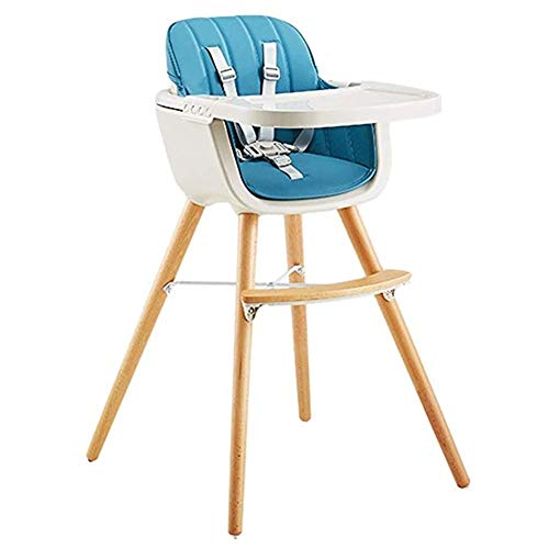 Buy Bargain Qivor Wooden High Chair for Babies and Toddlers - with Harness, Detachable Tray and Adju...