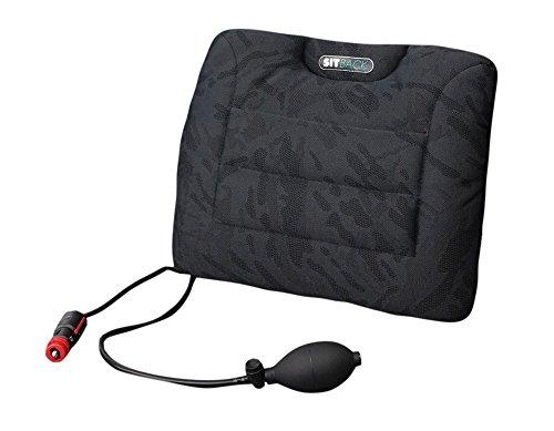 Sitback Air + Heizung universales Rückenstützkissen mit Heizung (Stoff mex black)