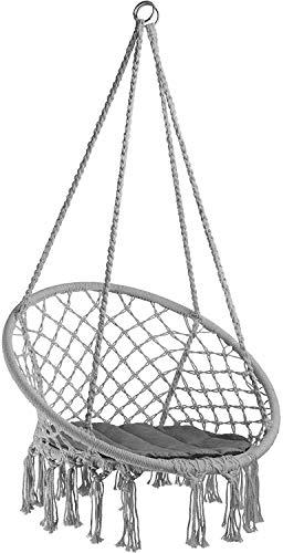 Y-M-H Silla Colgante, Hamaca con la Cubierta del Asiento, la construcción Robusta, Interior al Aire Libre (Rosa | Nº 403341) (Color : Grey | No. 403116)