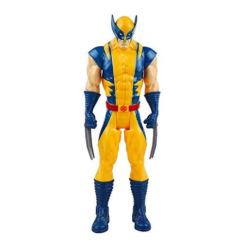 DEERO 30cm Marvel Super Heroes Avengers Endgame Thanos Wolverine Venom Action Figure Giocattoli Bambola per Bambino Ragazzo (Wolverine No Box,China)