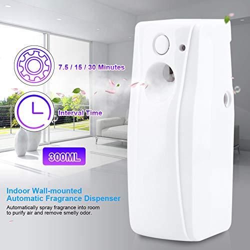 Jectse Automatischer Aerosolspender Sprühlufterfrischer-Spender Automatischer Duftspender an der Wand befestigter Stil mit Einer Sofort-Sprüh-Taste,für öffentliche Toiletten,Hotels,Restaurant