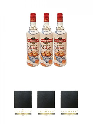 Rushkinoff Vodka & Caramello 3 x 1,0 Liter Geschenkset