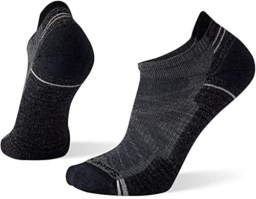 Smartwool Men's Hike Light Cushion Low Ankle No Show Socks – Merino Wool Socks for Hiking, Trail Running, Cycling & Outdoor Exercise – Made in USA - Medium Gray, L